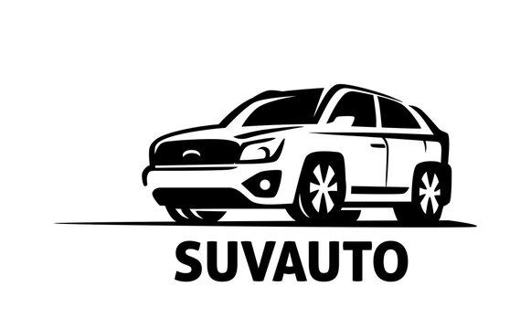 Suv car design logo vector
