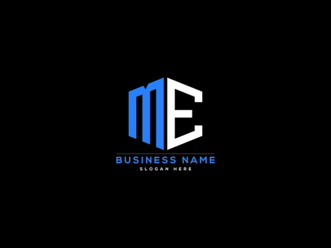 Letter ME Logo, creative me logo icon vector for business