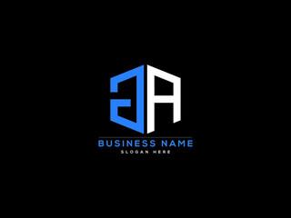 Fototapeta Letter GA Logo, creative ga logo icon vector for business obraz