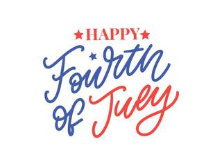 Fototapeta Fourth 4 of July stylish american independence day design Fourth of July obraz