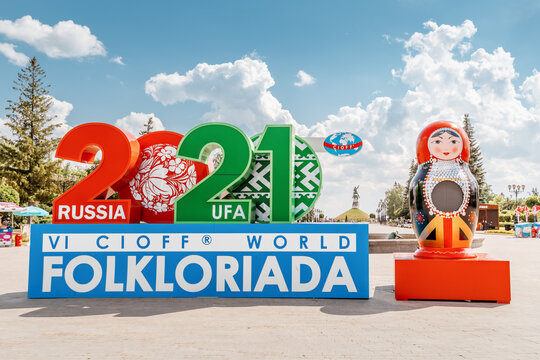 09 June 2021, Ufa, Russia: The 6th International Festival of Folklore by CIOFF - Folkloriada is held in Russia and welcomes guests and folk artists from many different countries of the world