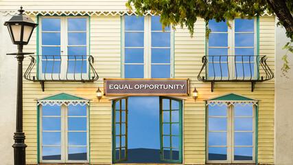 Fototapeta Street Sign EQUAL OPPORTUNITY obraz