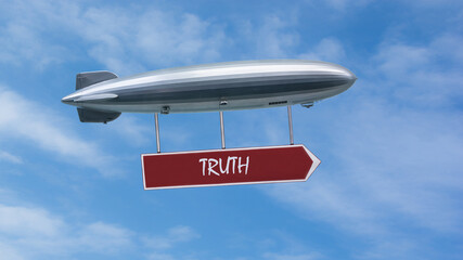 Fototapeta Street Sign to Truth obraz