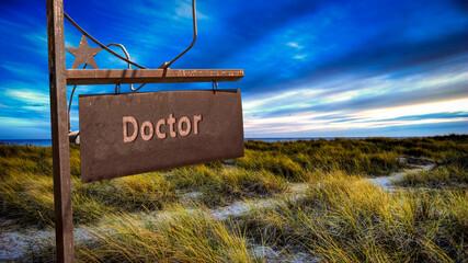 Fototapeta Street Sign to Doctor obraz