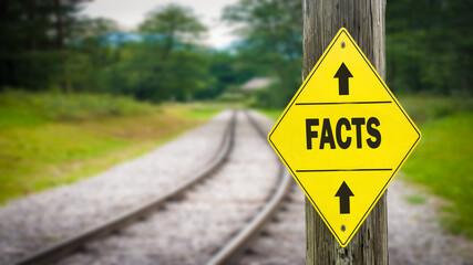 Fototapeta Street Sign to Facts obraz