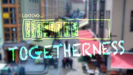 Fototapeta Street Sign to Togetherness obraz