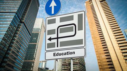 Fototapeta Street Sign to Education obraz