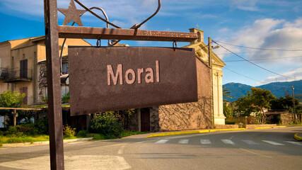 Fototapeta Street Sign to Moral obraz