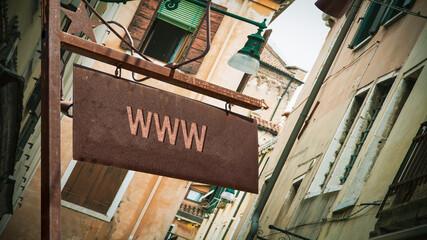 Fototapeta Street Sign to WWW obraz