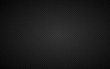 Black abstract carbon fibre background. Modern metallic look. The look of stainless steel. Vector illustration - fototapety na wymiar