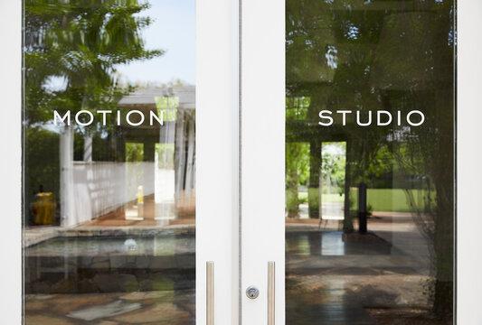 Exercise Studio Front Door