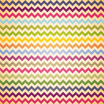 Vintage Colorful Chevron pattern for eggs easter day vector design