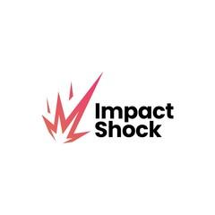 impact shock meteor logo vector icon illustration