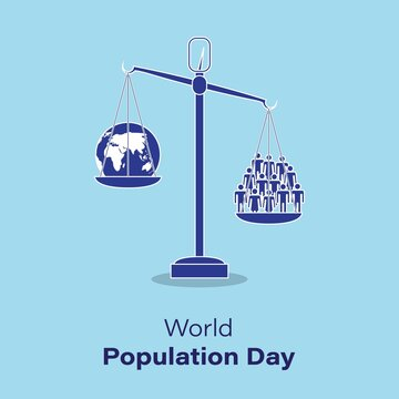 vector illustration for world population day