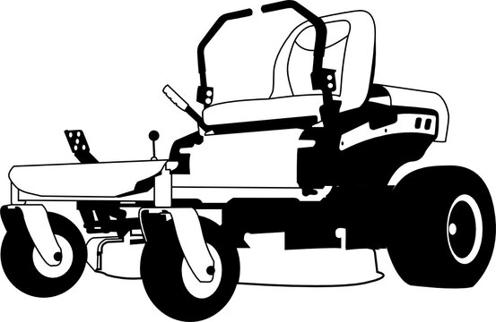 Zero Turn Lawn Mover cut file, SVG , Cricut, Silhouette , Vector