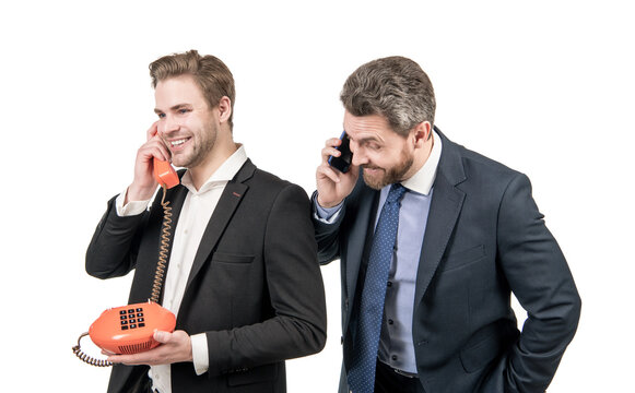 What can we do for you. Modern boss and old-fashioned boss. Modern and classic communication