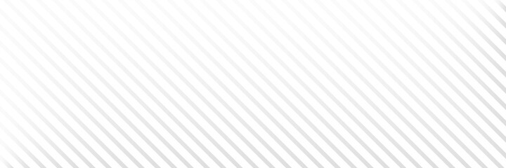 Diagonal line long background. White stripe texture. Gray straight design element. Abstract neutral banner. Fabric material decoration. Dynamic lines concept. Cover template. Vector illustration