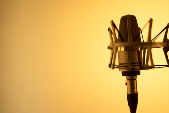 Voiceover microphone studio