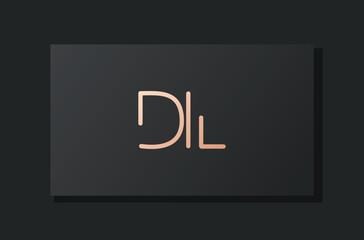 Obraz Abstract luxury initial letter DL logo. - fototapety do salonu