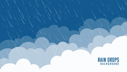 Obraz clouds and angles rainfall flat background - fototapety do salonu