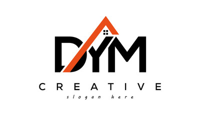 initial DYM letters real estate construction logo vector