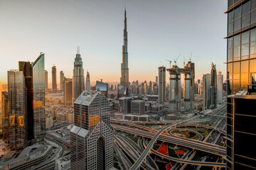 Sunrise - Skyline of Dubai