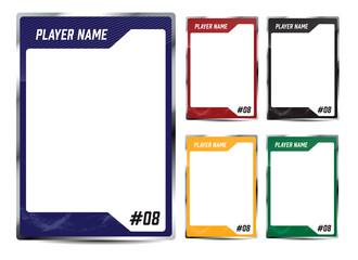 Obraz Hockey player card frame template design - fototapety do salonu