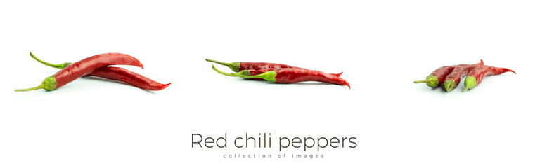 Red hot chili pepper on a white background.