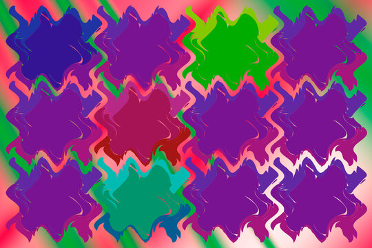abstract repeating smudge pattern 80s psychedelic neon modern art illustration