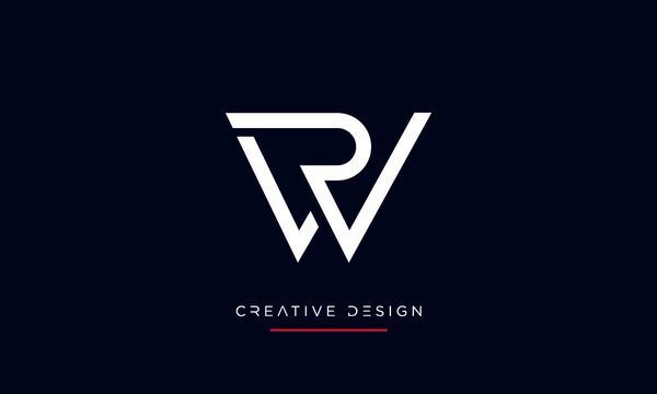 RW or WR Alphabet Letters Abstract icon Logo