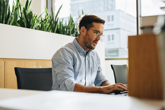 Freelancer doing work on computer