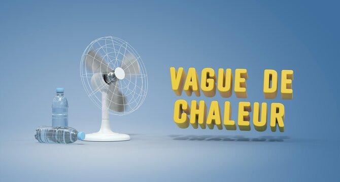 ventilateur en fonctionnement - vague de chaleur - canicule