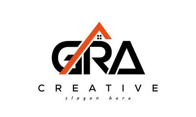 Obraz GRA letters real estate construction logo vector - fototapety do salonu