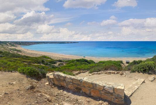 The stair to Lara beach. Akamas peninsula, Cyprus.