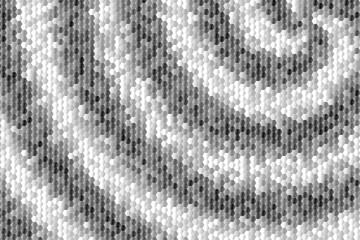 Obraz Czarno biała mozaika - fototapety do salonu