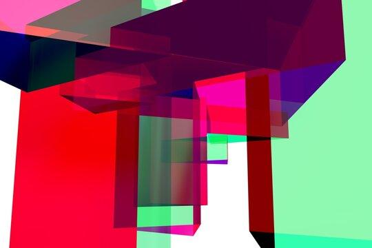 Triangle Prisma in bright colors