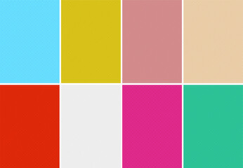 Simple backgrounds set with diagonal striped lines and different pastel colors.
