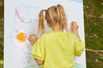Fototapeta Malowanie w plenerze-zajęcia dla dzieci obraz