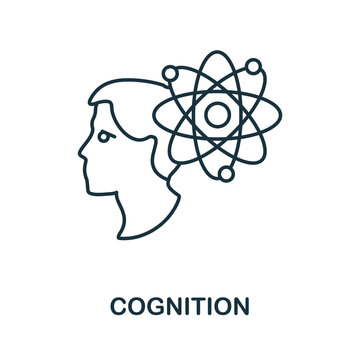 Cognition line icon. Creative outline design from artificial intelligence icons collection. Thin cognition icon for infographics and banner