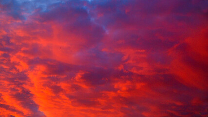 red clouds in the sky