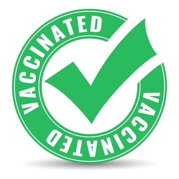 Vaccinated vector emblem