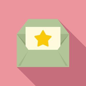 Bonus envelope icon, flat style
