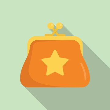 Sale bonus wallet icon, flat style