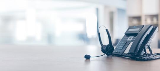 Fototapeta Communication support, call center and customer service help desk.for (call center) concept obraz