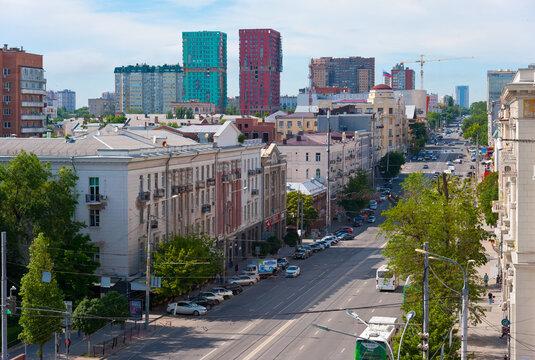 Rostov-on-Don, Russia - June 13, 2021. Budennovsky prospect.
