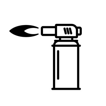 Blowtorch line icon. Clipart image isolated on white background