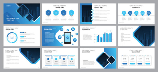 Obraz business presentation template design backgrounds and page layout design for brochure, book, magazine, annual report and company profile, with info graphic elements graph design concept - fototapety do salonu