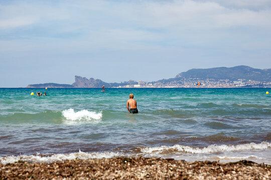 Vue sur La Ciotat de la plage de Saint Cyr sur Mer