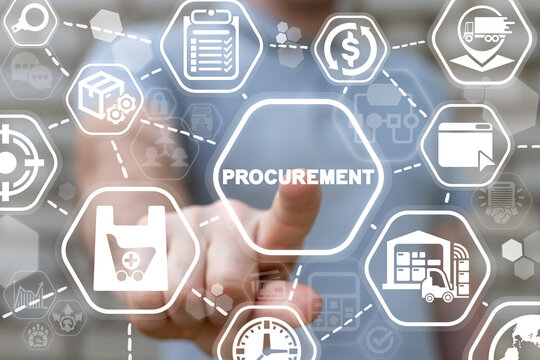 Concept of procurement. Product procurement management. Supply Chain Retail. Supplier and delivery goods logistic service.