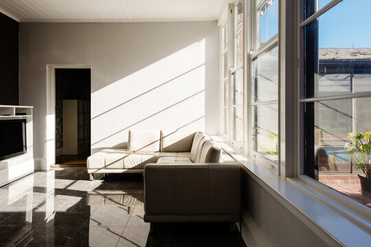interior room with light and shadow